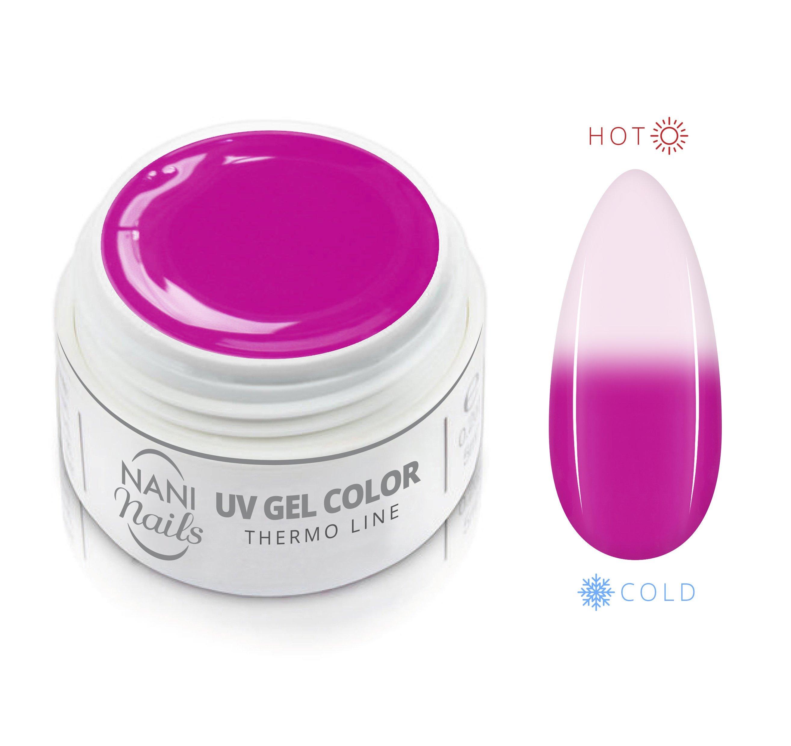 Gel UV Termic NANI 5 ml - Roz/albă