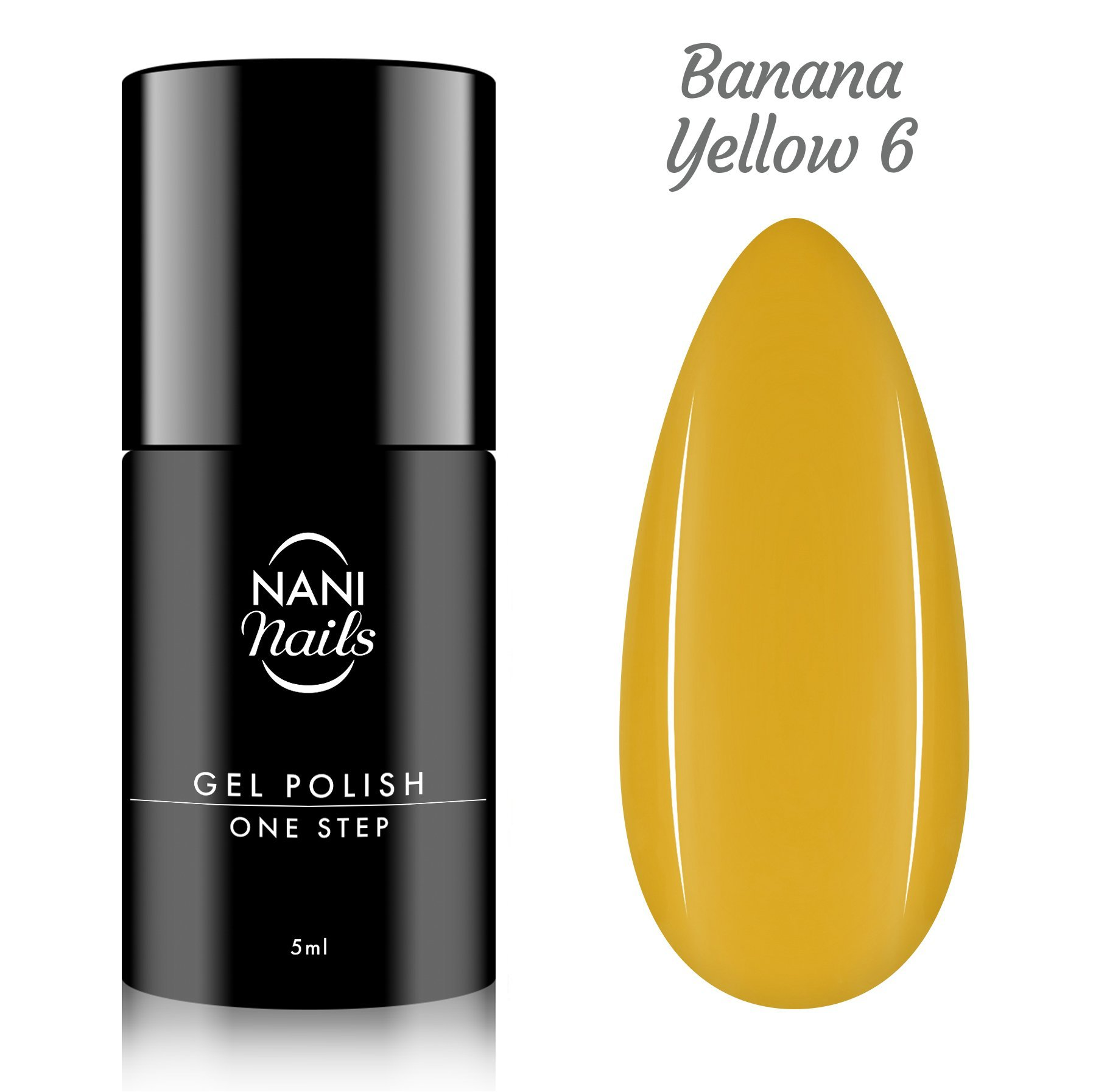 Oja semipermanenta NANI One Step Lux 5 ml - Banana Yellow