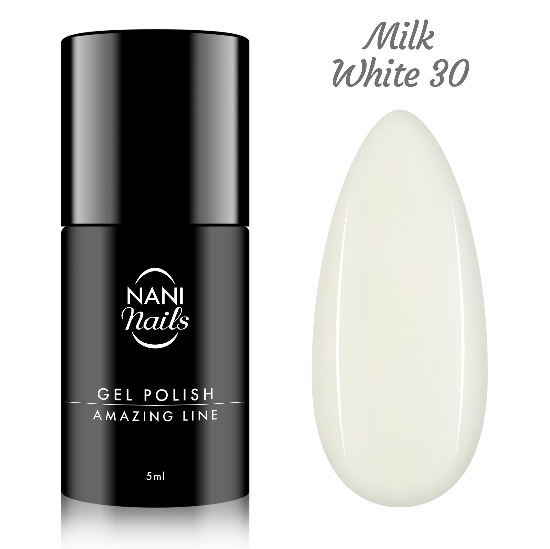 Oja semipermanenta NANI Amazing Line 5 ml - Milky White