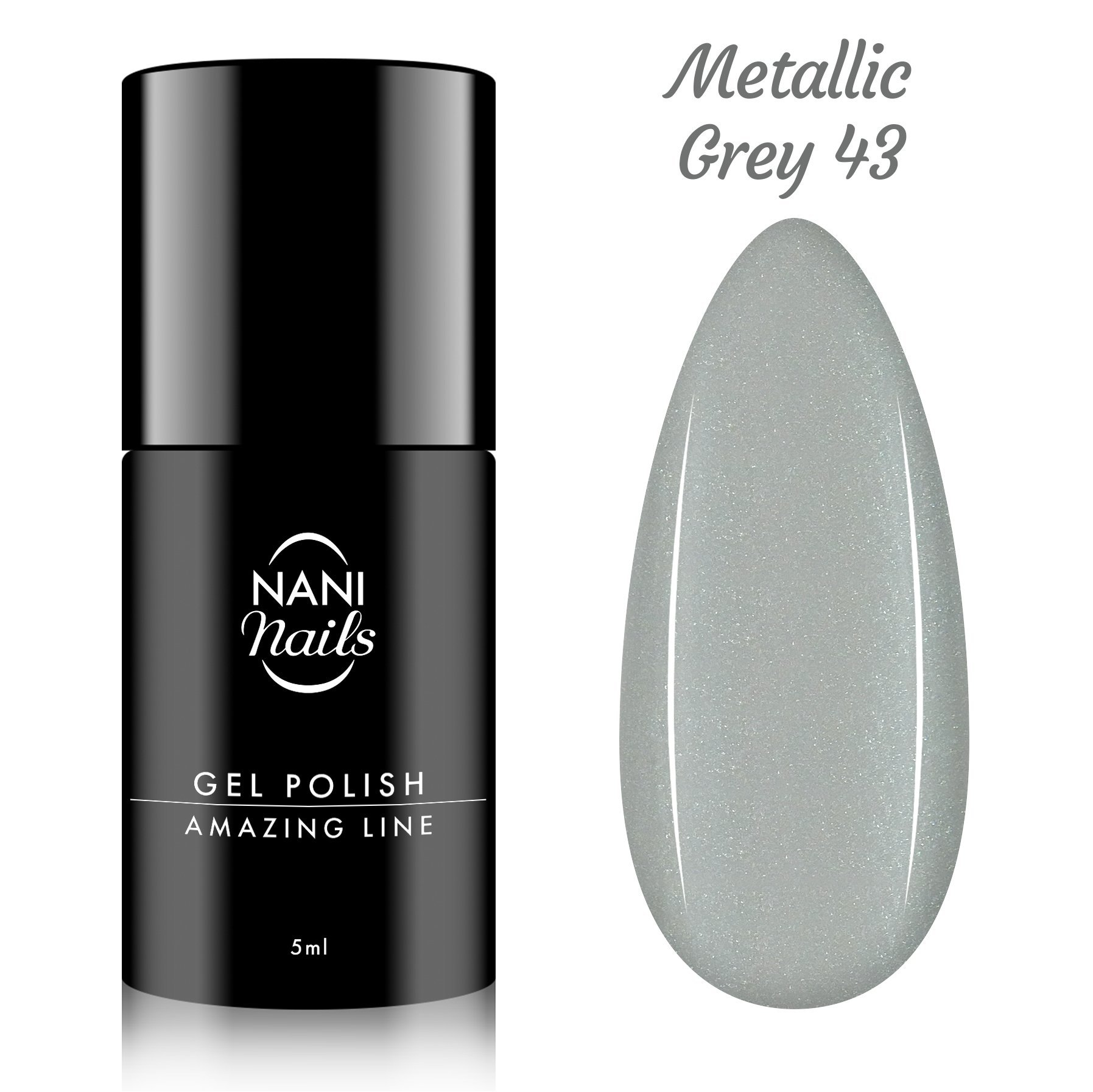 Oja semipermanenta NANI Amazing Line 5 ml - Metallic Grey