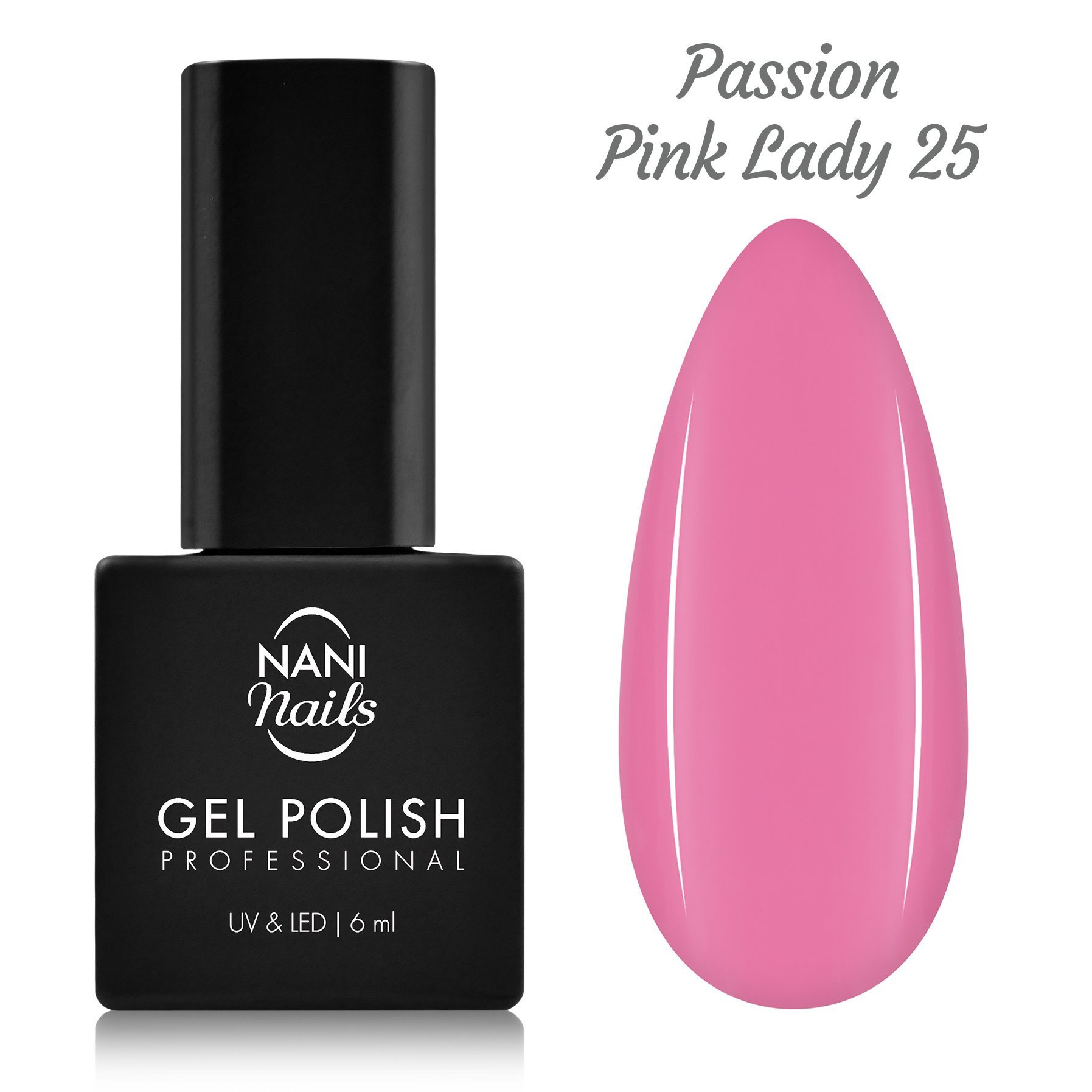 Ojă semipermanentă NANI 6 ml - Passion Pink Lady